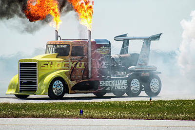 Photograph - Shockwave The Jet Truck by Thomas Vasas