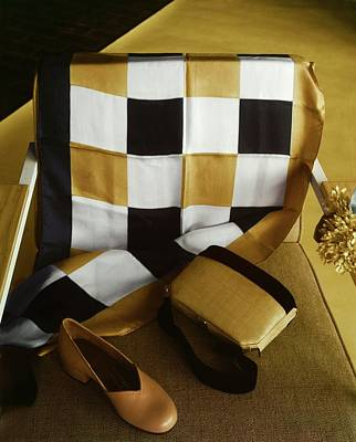 Photograph - Shoe, Handbag And Scarf by Horst P. Horst