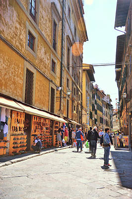 Photograph - Shopping Florence by JAMART Photography