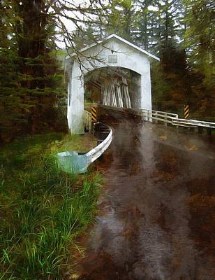 Photograph - Short Covered Bridge by Thom Zehrfeld