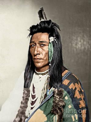 Photograph - Shoshone Man, C1899 by Granger