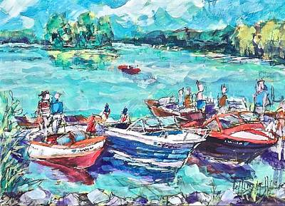 Painting - Show Boats by Les Leffingwell