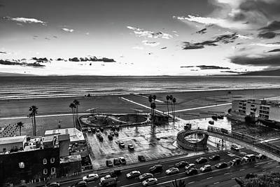 Photograph - Showers Over The Bay - Black And White by Gene Parks