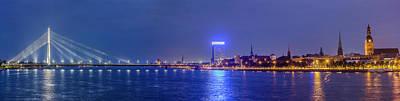 Photograph - Shroud Vansu Bridge, Daugava River And by Maremagnum