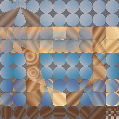 Digital Art - Shuffleblock by Kevin McLaughlin