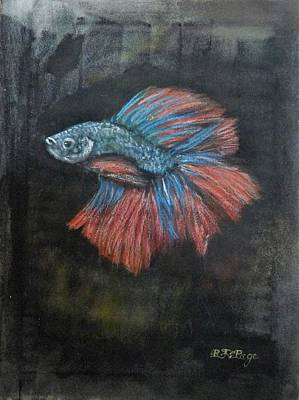 Pastel - Siamese Fish 3 by Richard Le Page