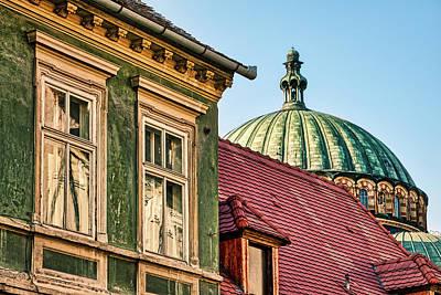 Photograph - Sibiu Church Dome And Windows - Romania by Stuart Litoff