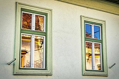 Photograph - Sibiu Window Reflections #2 - Romania by Stuart Litoff