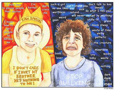 Mixed Media - Sibling Abuse by Lise Winne