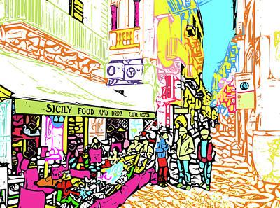 Digital Art - Sicilian Passeggiata by Nicholas V K