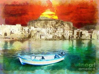 Claude Monet - Sicily Sunset by Stefano Senise