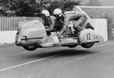 Holding Photograph - Sidecar Tt Race, Isle Of Man, 1970 by Heritage Images