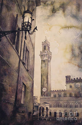 Painting - Siena Campo- Italy by Ryan Fox
