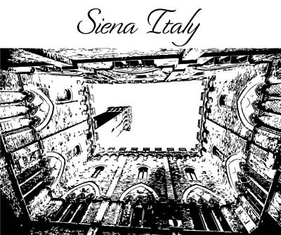 Photograph - Siena Italy Silhouette by John McGraw