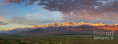Photograph - Sierra Nevada Mountain Range Sunrise by Michael Ver Sprill