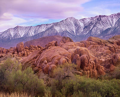 Photograph - Sierra Nevada Mountains From The by Tim Fitzharris/ Minden Pictures