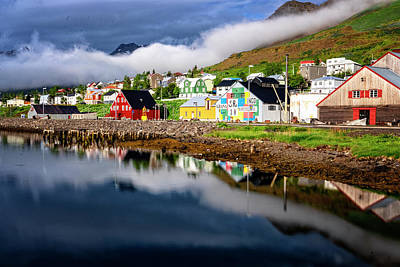 Photograph - Siglufjorour  Harbor Houses by Tom Singleton