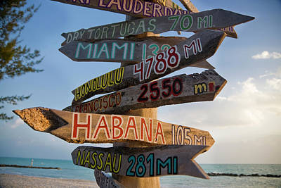 Photograph - Sign In Key West by Cristianl