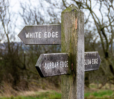 Photograph - Sign To Curbar Edge by Scott Lyons