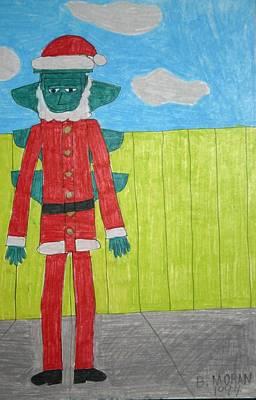 Drawing - Signal Santa by Barb Moran