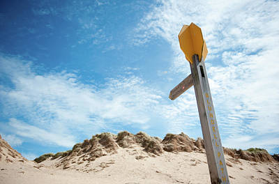Photograph - Signpost Through The Dunes II by Helen Northcott