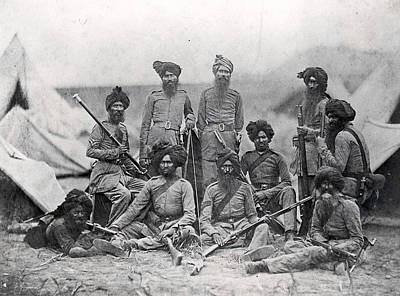 Sikh Soldiers Art Print by Felice Beato