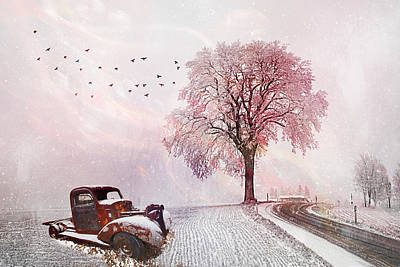 Photograph - Silent In The Snow by Debra and Dave Vanderlaan