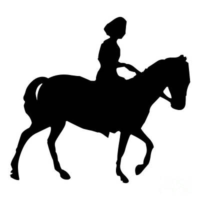 Digital Art - Silhouette Of A Woman On Horseback by Rose Santuci-Sofranko