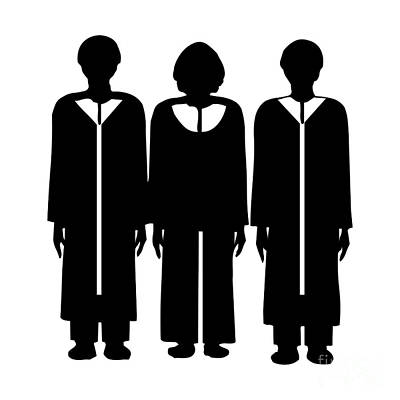 Digital Art - Silhouette Of Choir Members by Rose Santuci-Sofranko