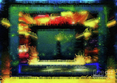 Digital Art - Silk-featherbrush Number 4 - All-night Vigil At The Lighthouse Blues Club by Aberjhani