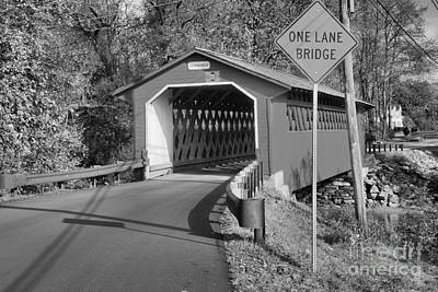 Photograph - Silk Road One Lane Bridge Black And White by Adam Jewell