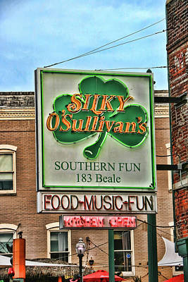 Photograph - Silky O'sullivan's - Memphis by Allen Beatty