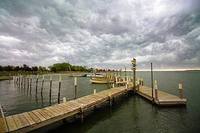 Photograph - Silly Lily Fishing Station Storm Clouds by Robert Seifert