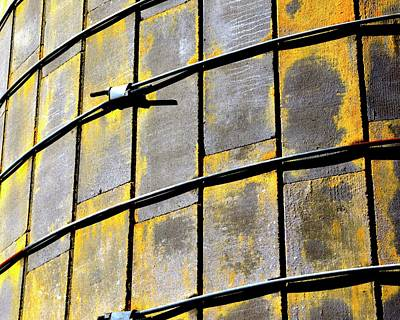 Photograph - Silo Patterns Detail by Jerry Sodorff