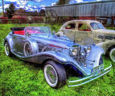 Photograph - Silver 540k Mercedes   by Thom Zehrfeld