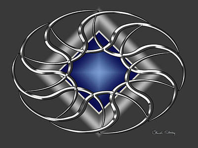 Digital Art - Silver Design 15 by Chuck Staley