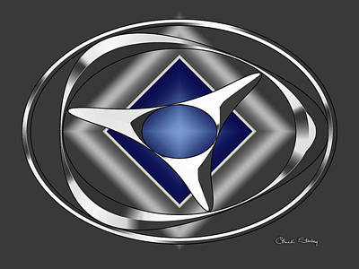 Digital Art - Silver Design 18 by Chuck Staley