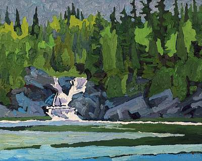 Painting - Silver Falls Wawa by Phil Chadwick