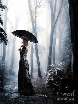 Digital Art - Silver Forest Walk by Shanina Conway