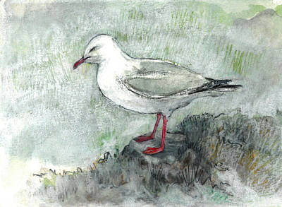 Painting - Silver Gull by Abby McBride