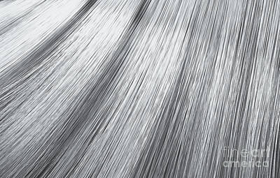 Digital Art - Silver Hair Blowing Closeup by Allan Swart