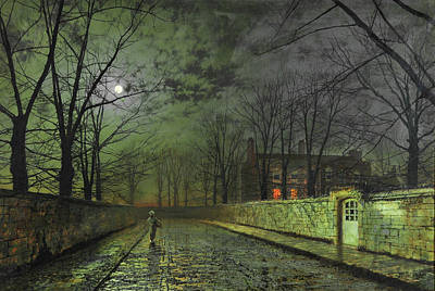 Photograph - Silver Moonlight 1880 by Doc Braham