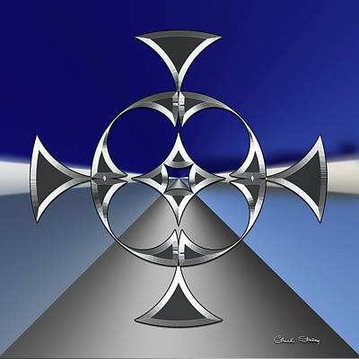 Digital Art - Silver Road 5 by Chuck Staley
