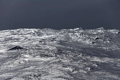 Photograph - Silvery Sea Waves Reflecting Light by Eastcott Momatiuk