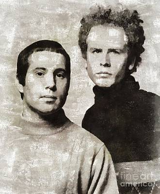 Music Painting Rights Managed Images - Simon and Garfunkel, Music Legends Royalty-Free Image by Esoterica Art Agency