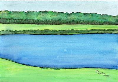 Painting - Simple Lake by Amber Nicole