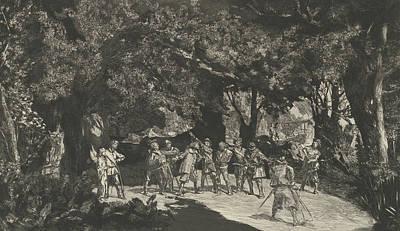 Relief - Simplicius Unter Den Soldaten, From The Series Intermezzi by Max Klinger