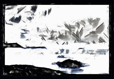 Digital Art - Simplistic Minimalist Landscape by Mario Carini