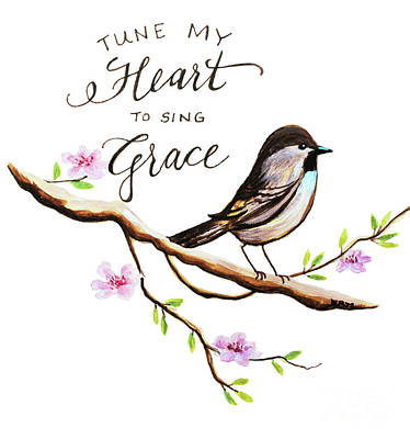 Garden Wall Art - Painting - Sing Grace by Elizabeth Robinette Tyndall
