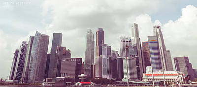 Singapore Cityscape The Second Art Print